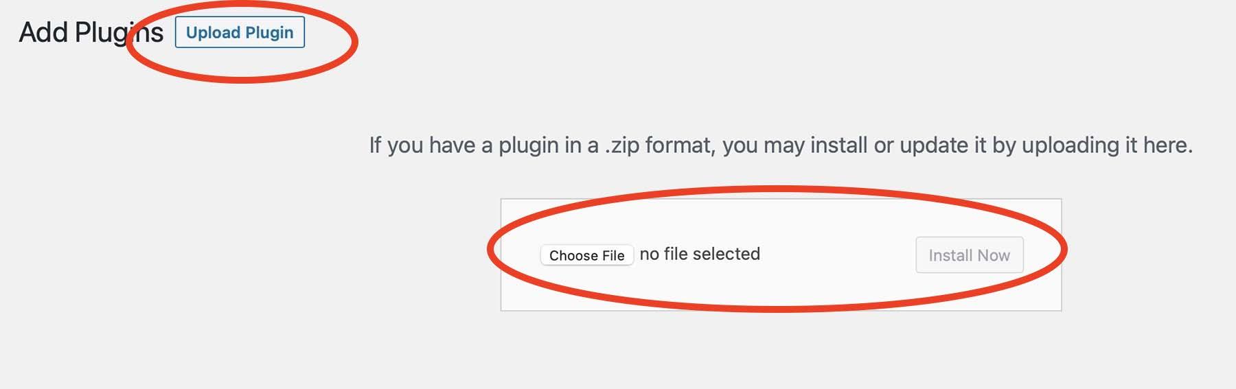 Add Plugins Upload