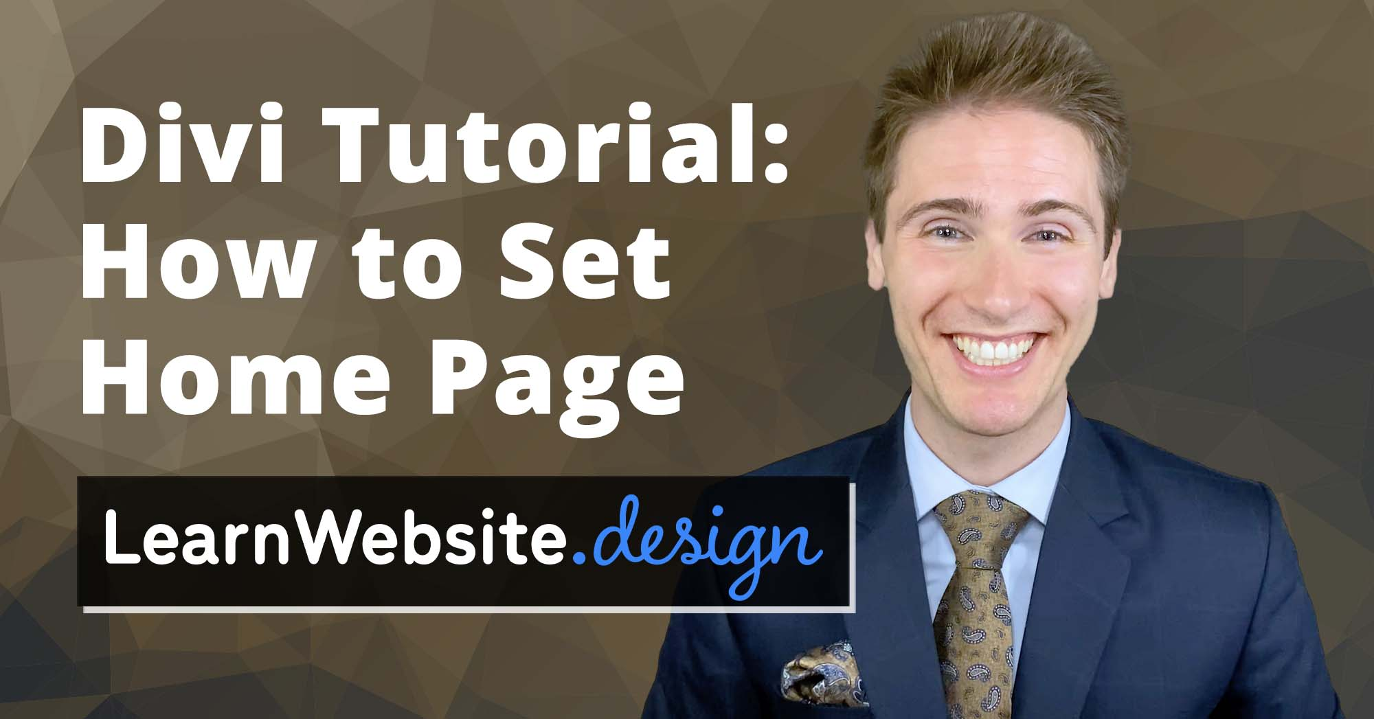 Divi How to Set Home Page Tutorial