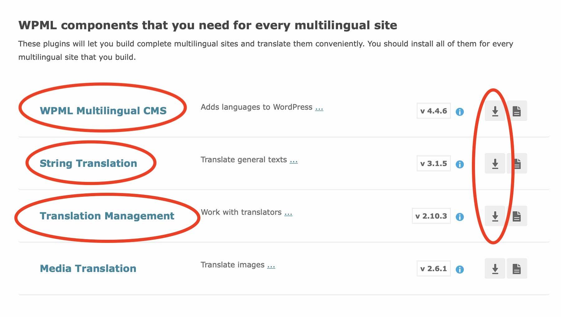 WPML Downloads
