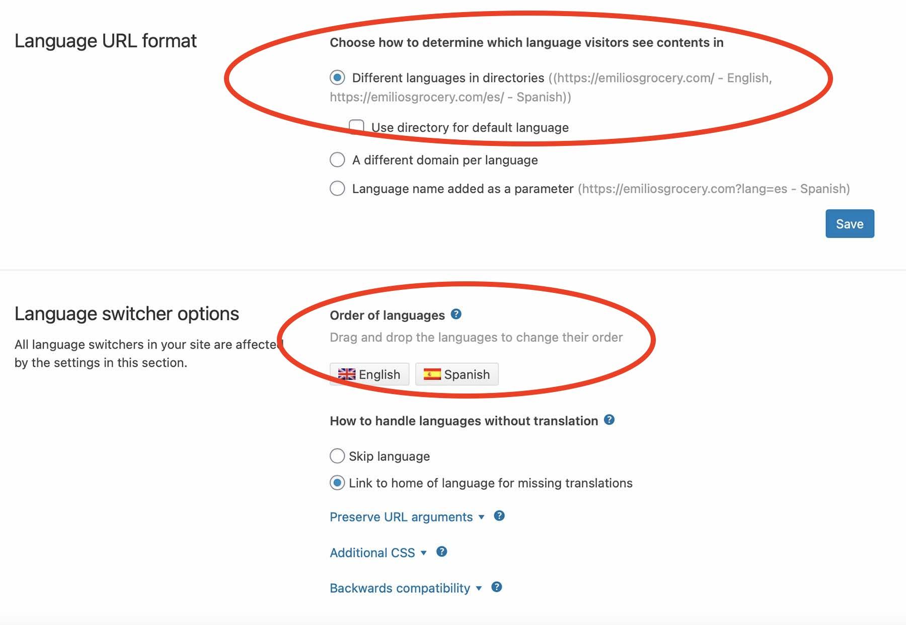 WPML Language Switcher