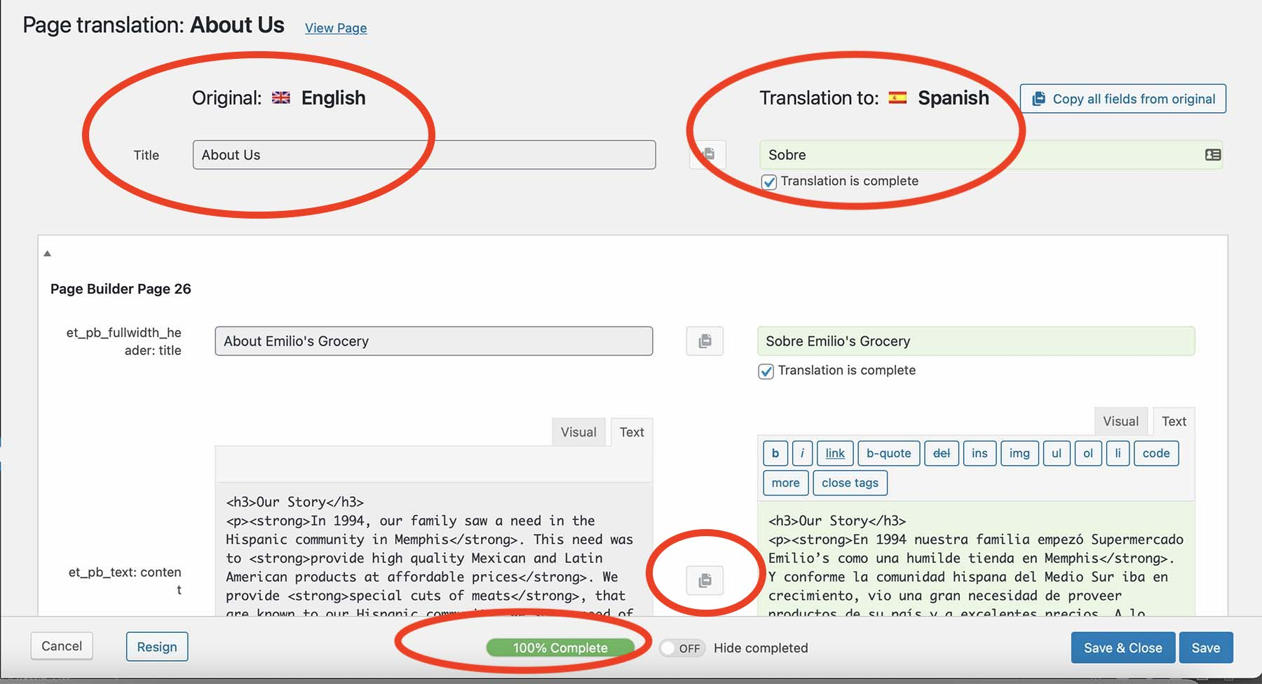 WPML Page Translation
